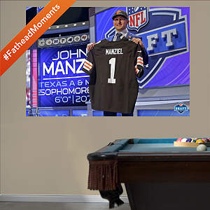 Johnny Manziel Draft Day Mural Fathead Wall Decal